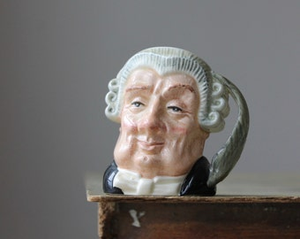 "Royal Doulton ""The Lawyer"" Miniature Toby Jug, Royal Doulton Lawyer, Doulton Character Jugs,  Royal Doulton England, Doulton Collectibles"
