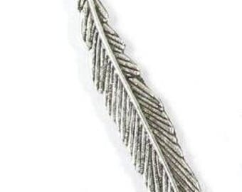 Silver Tibetan Style Small Metal Bookmark-LEAF DESIGN (5)