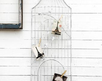 Very Large Photo Holder Wall Decor,Rustic Wall Art, Anthropologie Style, Bird House Wall Home Decor