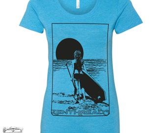 Womens SUP PADDLE BOARD Lightweight Tri Blend t shirt [+Colors] s m l xl xxl