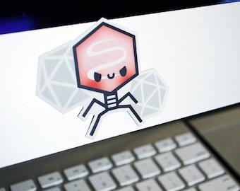 Virus Vinyl Sticker, Virus Laptop Sticker, Microbiology Sticker, Science Sticker, Cute Sticker, Virus Sticker, Virus Laptop Decal, roocharms