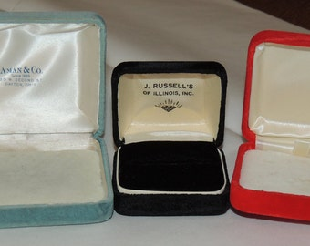 3 Vintage Jewelry Boxes