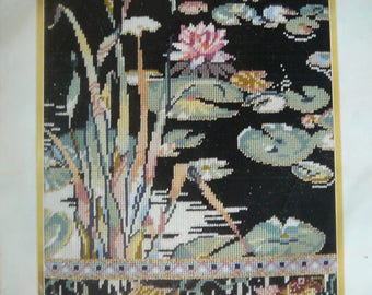 "Vintage Elsa William Needlepoint Kit ""The Lily Pond"" - NEW"