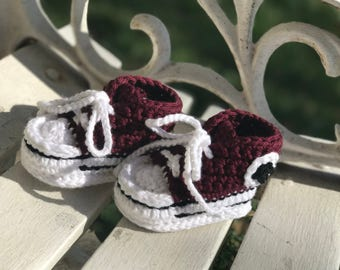 Baby Infant Crochet Converse Like Booties