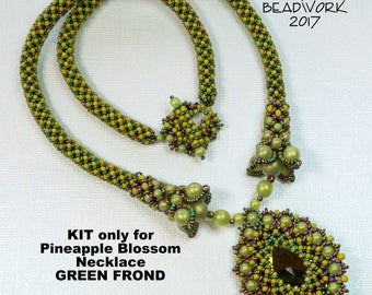 Pineapple Blossom Necklace KIT only for Green Frond Color