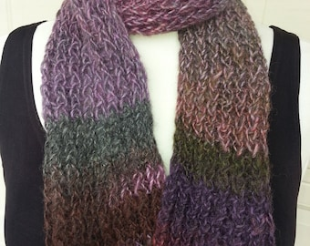 Amazing Violets Double Knit Scarf - OOAK MWL by an EtsyMom