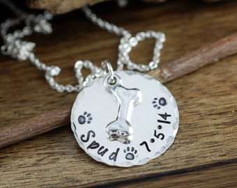 Dog Mom Necklace, Pet Lover Necklace, Dog Mom Jewelry,  Dog Bone Necklace, Dog Paw Necklace, Gift for Dog Mom, Mothers day Gift