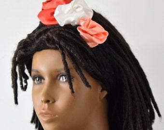 Girls Lace & Satin Headband - Girls Hair Acessories - Hair Bow - Headbands