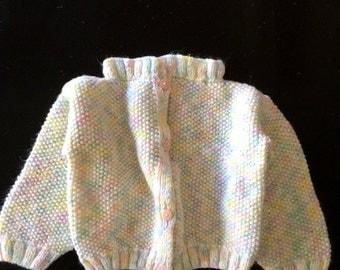 Vintage PASTEL Knit Baby Sweater