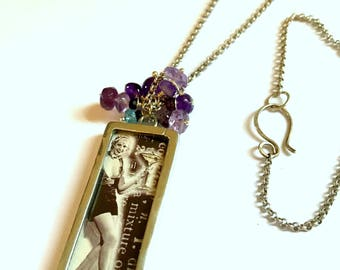 SHAKE IT BABY, sterling silver pendant with amethyst necklace