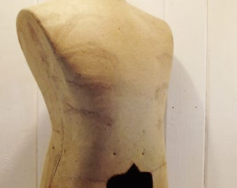 Vintage Male Dress Form Male Torso Mannequin