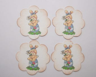 Easter Bunny Rabbit Envelope Seals or Stickers - SES379