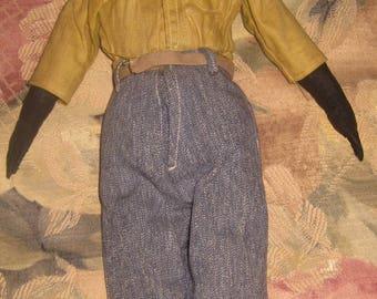 Wonderful Handmade Black Male Doll, Bahai?