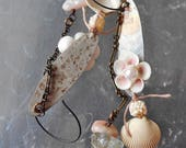 Dibs for Paige Summery Shells Assemblage Earrings