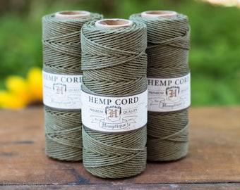 Hemp Cord, Sage Green, 1mm, 205 feet,  Colored Hemp Cord,  Hemp Crafters Cord, 1mm Hemp Twine -T7