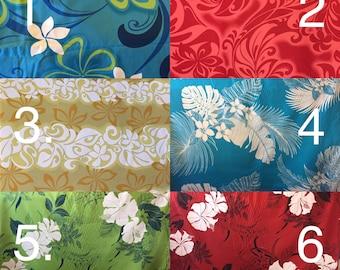 Girls Hawaiian Hula Pa'u Skirt Set - 6 fabric prints to choose from