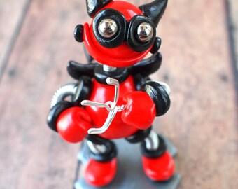 Valentine's Day Robot Devil Dill Mini Robot Sculpture Geek Unisex Gift