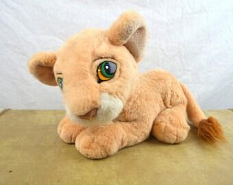 1993 Lion King Purring Simba Plush Cub Disney - Nala