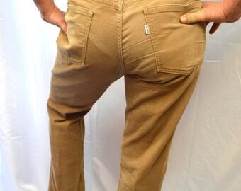Vintage 70s 1980s Levis Corduroy Cords Pants - Size 34 X 33