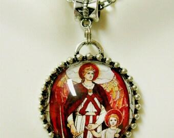 Archangel Raphael pendant and chain - AP05-292