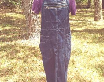 Vintage 80s Denim Overall  Dress