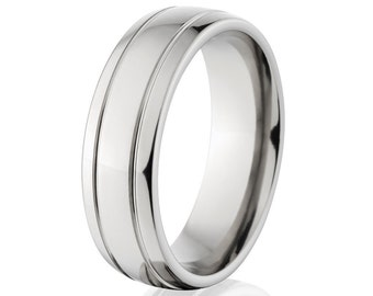 Brilliant 7mm Titanium Ring, New Custom Titanium Band-72GBSBRHK