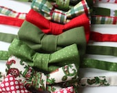 Little and Big Guy HOLIDAY CHRISTMAS Bow Tie - Red Green Gold Collection - (Newborn-Adult) - (Newborn-Adult) - Baby Boy Toddler Teen Man
