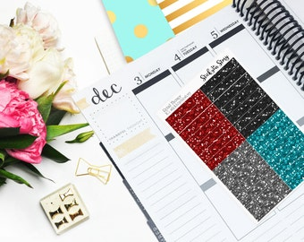 Retail Therapy Glitter Headers Planner Stickers Vertical Student Glossy - Stick to Your Story