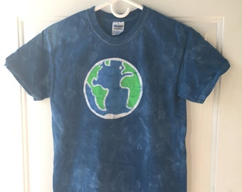 Earth Day Shirt, Batik Earth Shirt, Adult Earth Shirt, Ladies Earth Shirt, Mens Earth Shirt, Planet Earth Shirt, Globe Shirt (S)