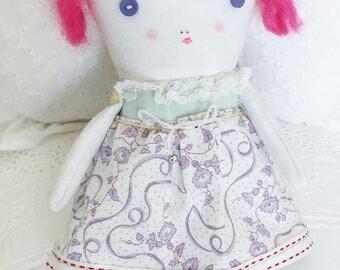 Handmade Ragdoll - Soft Doll for Kids - Baby Shower - Nursery Decor Girls - Kids Doll - Children's Doll -  Plush Doll