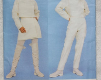 "Size 12-14-16  Vintage Vogue Paris Original  Sewing Pattern 1484 Montana  Jacket Skirt Pants   Bust 34""-38"""