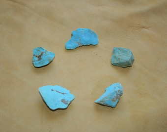 Kingman Turquoise Rough Lot of 5 Pieces 129.5 ct! Plus, Free USA Shipping!