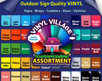 12x12 GRAB BAG 20 sheets  Adhesive Backed Vinyl Outdoor sign Craft, wraps, tumblers, glass, vehicles, vinylvillage
