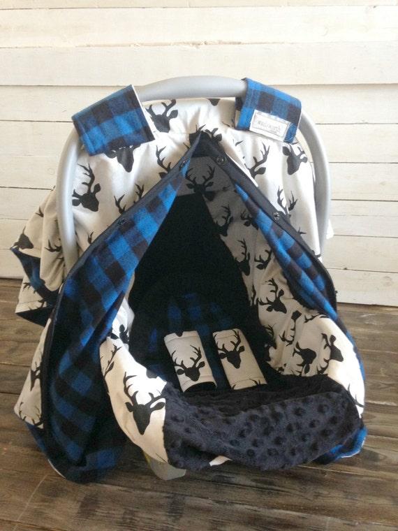 Boy Car Seat Cover Car Seat Canopy Custom Deer Amp Blue Plaid 5