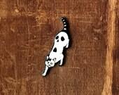 Junji Ito Cat Diary Yon and Muu Neko Japanese Horror Manga Graphic Novel Anime Comic Book Character Pulp Pin Button Pinback