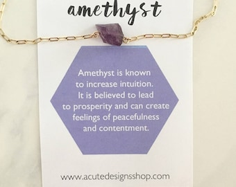 Amethyst - Healing Crystal Necklace