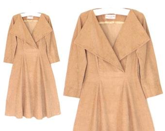 50s Dress * 1950s Dress * Corduroy Dress * Claire McCardell Dress * Small