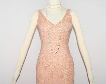 TODD OLDHAM Vintage Beaded Halter Pink Dress Mini