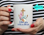 I love you to the sea and back - 2 sizes - Makes the perfect holiday gift!
