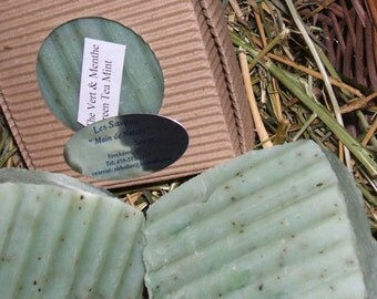 GreenTea Mint All Natural Vegan Soap