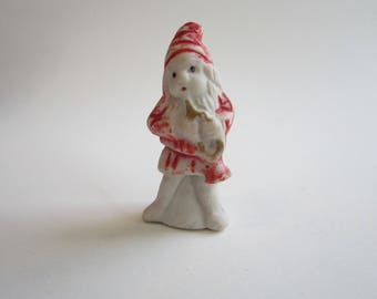 vintage bisque GNOME - bisque elf - marked JAPAN - 2.375 inches