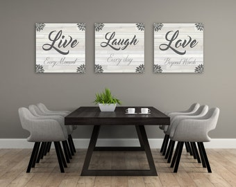Live Laugh Love Decorations, Home Decor Wall Art, Unique Canvas Art, Live Laugh Love Art