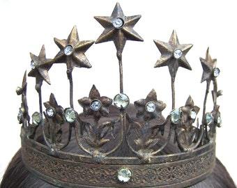 Vintage Santos crown for Virgin Mary or saint shabby crown diadem hair accessory headdress headpiece hair ornament (A)