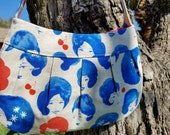 SALE - Fruit Dots in Blues Buttercup Purse