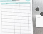 Menu Planning Kit - 14 documents - standard and half size included - Instant Download