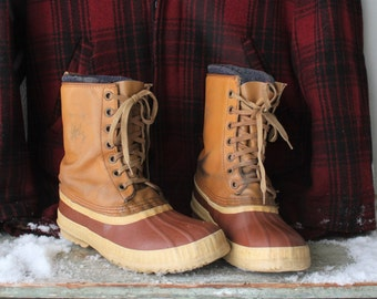Vintage Sorel Lined Duck Boots  Hunting Boots Mens Sz 8
