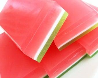 Watermelon Soap, Summer Melon Soap, Bath Soap, Bar Soap, Glycerin Soap, Fruity Soap, Summer Soap, Honeydew Soap, Melon Soap