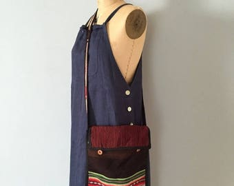 25% OFF SALE ... woven fabric bag | artist messenger purse