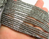Hematite Silver -  2.5mmx1.5mm faceted rondelle beads - full strand - 230 beads - A quality - PHG255