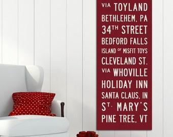 CHRISTMAS Subway Art, Christmas Wall Decor, Christmas Wall Art, Subway Sign Art, Christmas Banner, Retro Christmas Decor, Christmas Sign.